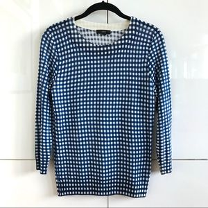 "Like New J. Crew Gingham Print ""Tippi"" Sweater"